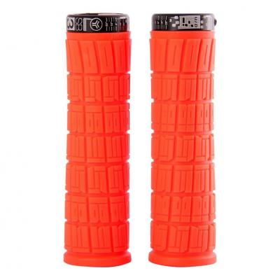 Poignées Grips SB3 Flowy Am Lock On L.130 mm Néon Rouge/Noir