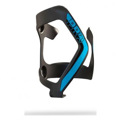 Porte Bidon à chargement latéral PRO Aluminium Gauche Noir/Bleu