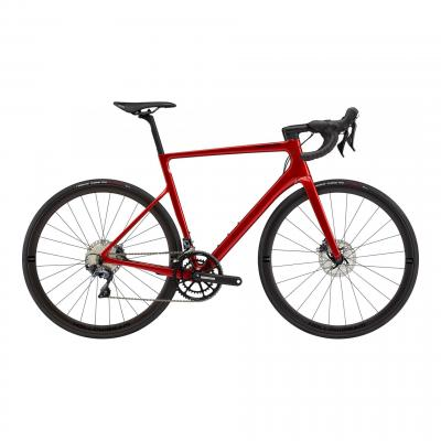 Vélo route Cannondale SuperSix EVO Hi-Mod Disc Ultegra Candy Red 2021
