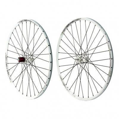 """Paire de roues Tune Edelweisz 26"""" Disc blanches"""