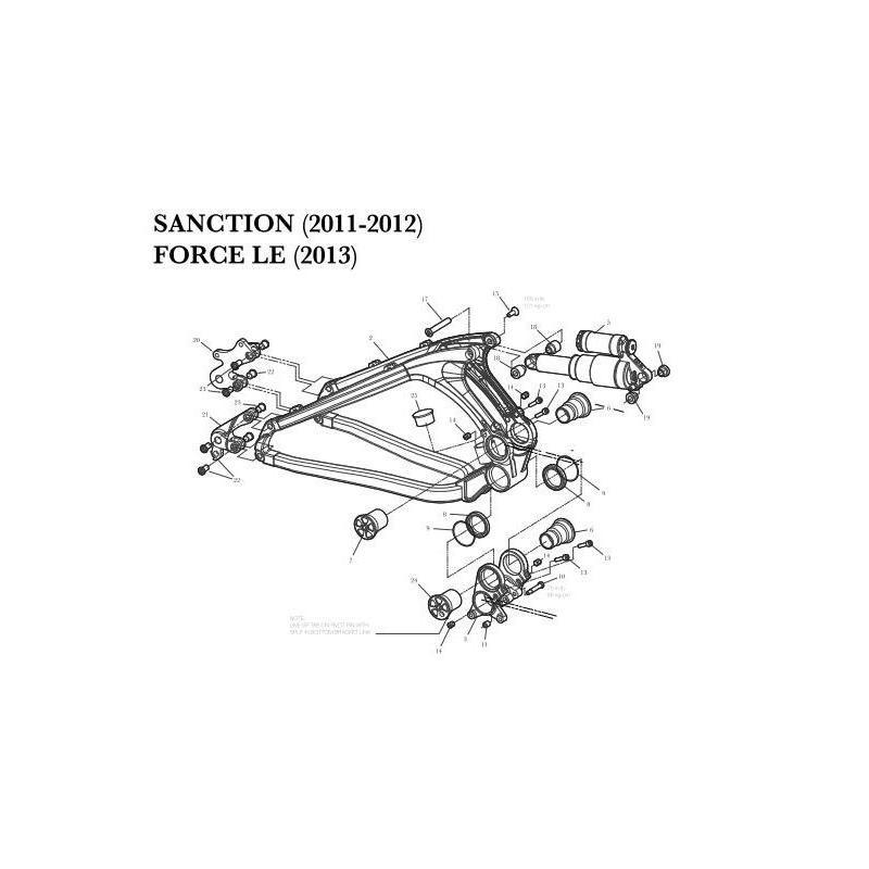 Ecrou de serrage ATINT0031 GT Sanction / Force LE (Unité) - 1