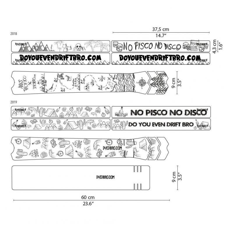 Sticker de protection de cadre Dyedbro Andes Pacifico 2019