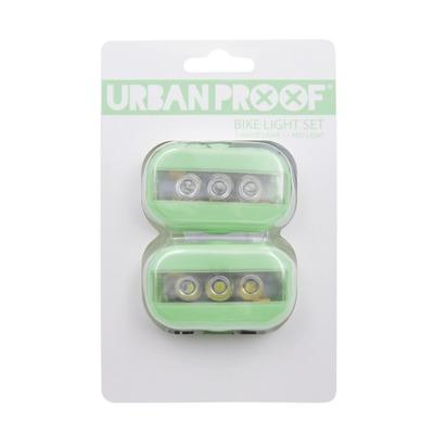 Kit d'éclairage avant + arrière Urban Proof LED Clip Vert