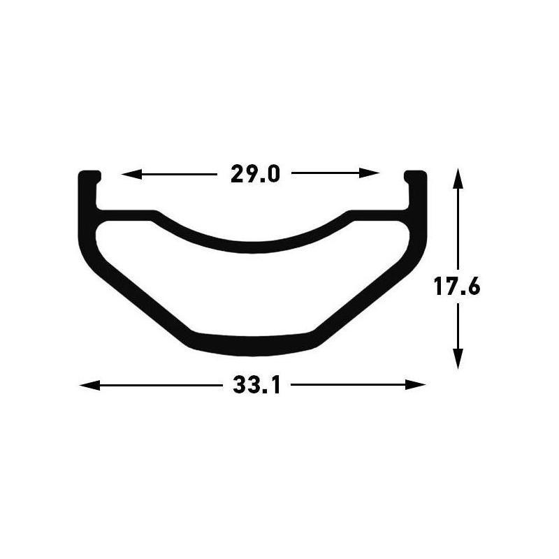 Roue avant Stan's NoTubes Flow S1 29'' 6 T. 15x110 mm Noir - 3