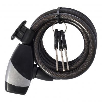 Antivol Câble 10 x 1800 mm clé coil10 Noir OXC