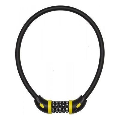 Antivol câble Auvray D. 12 mm L. 65 cm à code Noir/Jaune