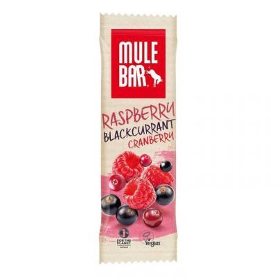 Barre énergétique Mulebar Cassis, Cranberries, Framboises 40 g