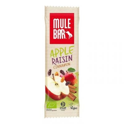 Barre énergétique Mulebar Pomme, Cannelle, Raisins 40 g
