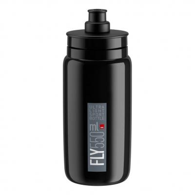 Bidon Elite Fly 550 ml Noir/Gris