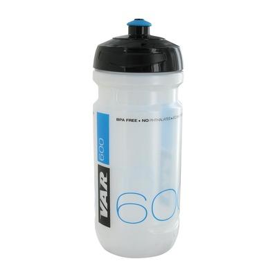 Bidon vélo VAR 600 ml Transparent/Noir Bleu