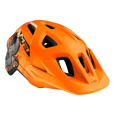 Casque enfant MET Eldar Orange Pieuvre