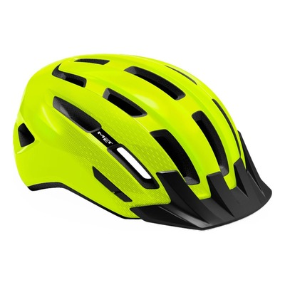 Casque MET DownTown Jaune Fluo