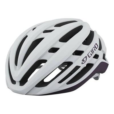 Casque vélo femme route Giro Agilis Blanc/Violet