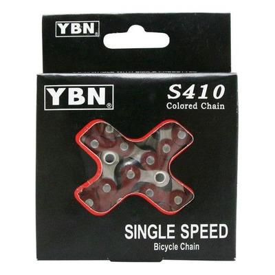 Chaine YBN Fixie 1/3V S410 112M Rouge