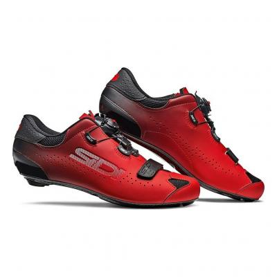 Chaussures Route Sidi Sixty Noir/Rouge