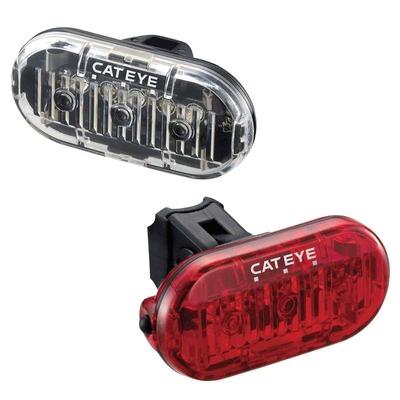 Éclairage vélo avant et arrière Cateye Omni 3 Noir