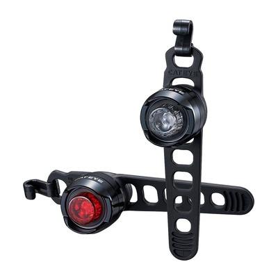 Éclairage vélo avant et arrière Cateye Orb Rechargeable Noir Poli