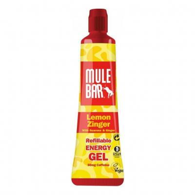 Gel énergétique Mulebar Citron/Gingembre/Guarana 37 g bouchon refermable