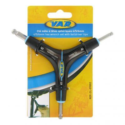 Kit clés Allen/hexagonale Var 4/5/6 mm Têtes sphériques Noir