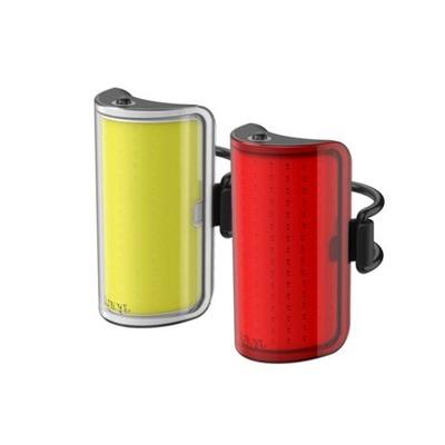 Kit d'éclairages avant + arrière Knog Mid Cobber Twinpack Noir