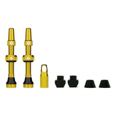 Kit de valves Tubeless Muc-Off 44 mm Gold (La paire)