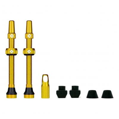 Kit de valves Tubeless Muc-Off 60 mm Gold (La paire)