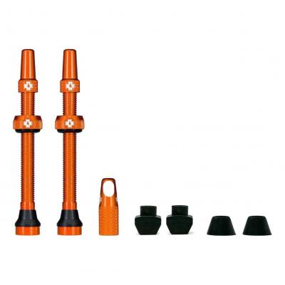 Kit de valves Tubeless Muc-Off 60 mm Orange (La paire)