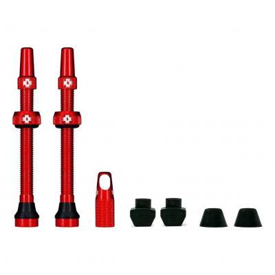 Kit de valves Tubeless Muc-Off 60 mm Rouge (La paire)