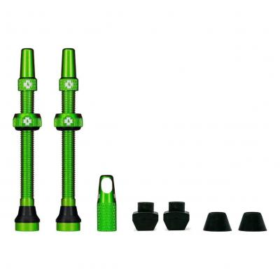 Kit de valves Tubeless Muc-Off 60 mm Vert (La paire)