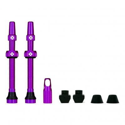 Kit de valves Tubeless Muc-Off 60 mm Violet (La paire)