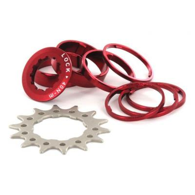 Kit Single Speed SB3 14 dents avec spacers Rouge