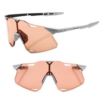 Lunettes 100% Hypercraft Matte Stone Grey/Coral