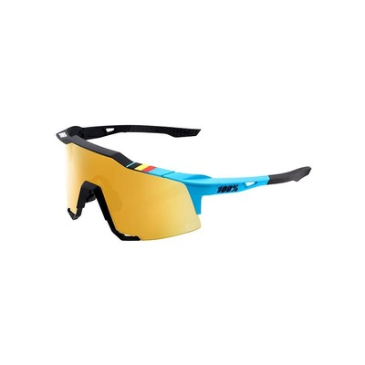 Lunettes 100 % Speedcraft BWR Black Soft Gold Mirror Lens