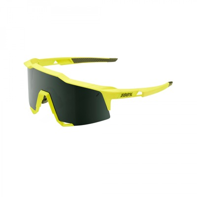 Lunettes 100 % Speedcraft Soft Tact Banana Grey Green Lens Jaune