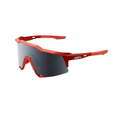 Lunettes 100 % Speedcraft Soft Tact Coral Black Mirror Lens Rouge