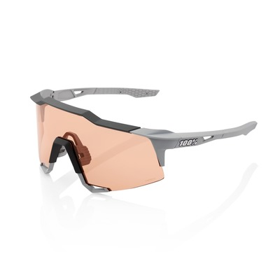 Lunettes 100 % Speedcraft Soft Tact Stone Grey Hiper Coral Lens