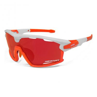 Lunettes Power Race 15TH (3 verres) Blanc/Orange