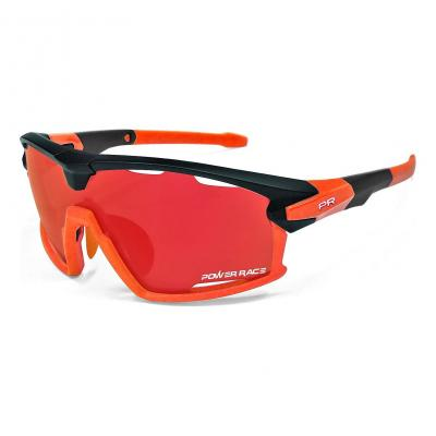 Lunettes Power Race 15TH (3 verres) Noir/Orange
