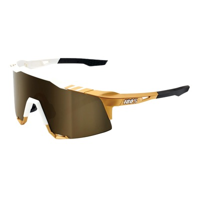 Lunettes solaires 100 % Speedcraft Peter Sagan LE White/Gold