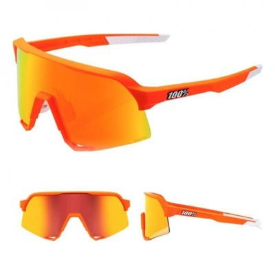 Lunettes solaires 100% S3 MVDP Neon Orange Hiper Red Multilayer Mirrorlens