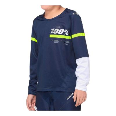 Maillot Enfant 100% R-Core Dark Blue/Yellow