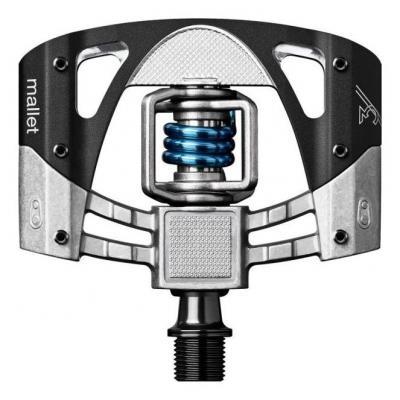 Pédales automatiques CrankBrothers MALLET 3 Brut-noir / ressort bleu