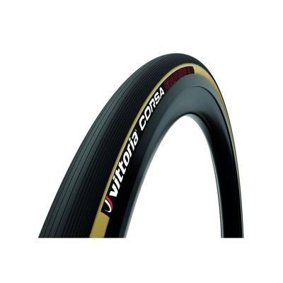 Pneu vélo Vittoria Corsa 700 x 32C TS Noir/Marron