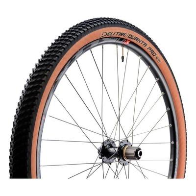 Pneu VTT/Gravel Deli Tire Quanta Pro 27.5 x 2.10 Anti-crevaison TS Noir/Marron