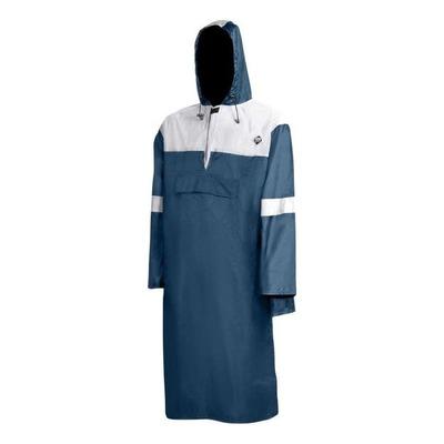 Poncho de pluie imperméable avec réflecteur Bleu/Gris