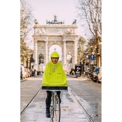 Poncho vélo adulte Tucano Garibaldina jaune Fluo