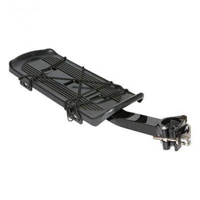 Porte-bagage arrière à fixation rapide Aluminium Noir