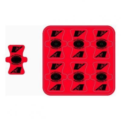 Protection de valve Vnoïse adhésif (x6) Rouge/Noir