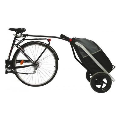 Remorque vélo et chariot de course 12'' Shopping Trailer 60 L Noir/Gris