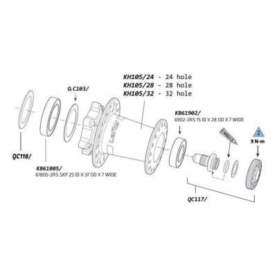 Rondelles de calage Cannondale pour moyeu Lefty (x3)